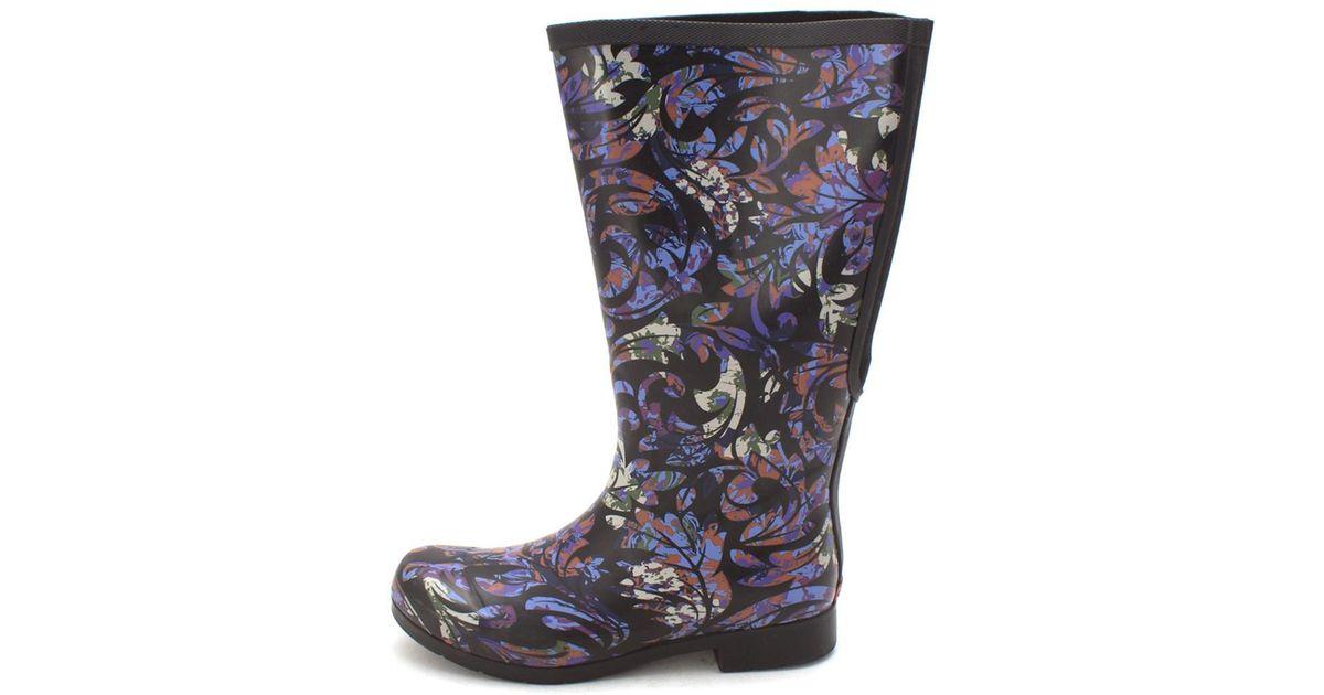 6e6ba1ce30d8 Lyst - Chooka Womens Flex Fit Elastic Rubber Closed Toe Knee High Cold  Weather Boots