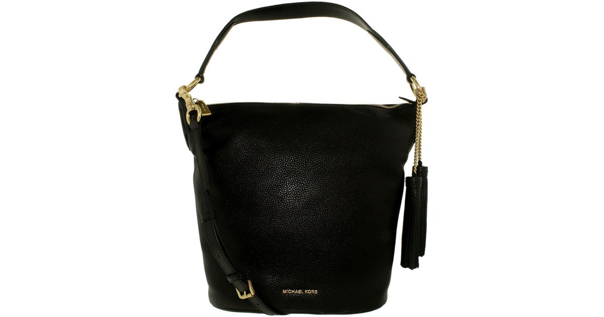ad2e944f58e8 Lyst - Michael Kors Women's Large Elana Convertible Leather Shoulder Bag  Tote in Black