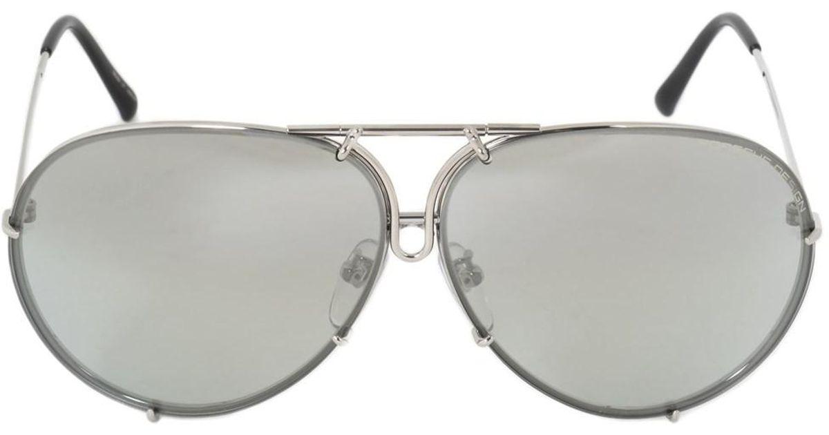 7ffc5f6f4d7b Lyst - Porsche Design Aviator Sunglasses P8978 B 66