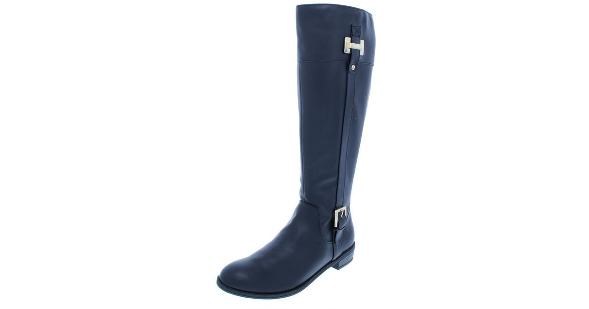 32230edf9a9 Karen Scott - Blue Womens Deliee Embellished Round Toe Mid-calf Boots - Lyst