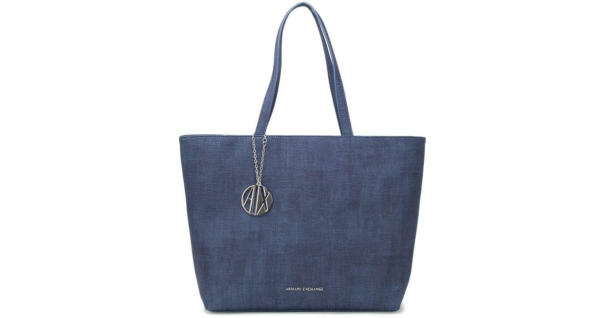 a40853a12270 Lyst - Armani Exchange Women s Blue Polyester Tote in Blue