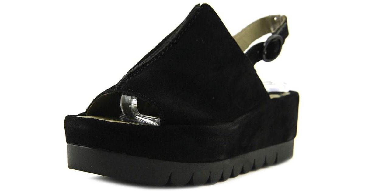 9cf479048e Lyst - Fly London Bora Open Toe Leather Platform Sandal in Black