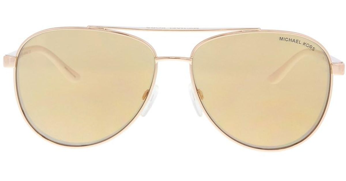 b82fa8d940cf4 Lyst - Michael Kors Mk5007 1080r1 Rose Gold Aviator Sunglasses in Metallic