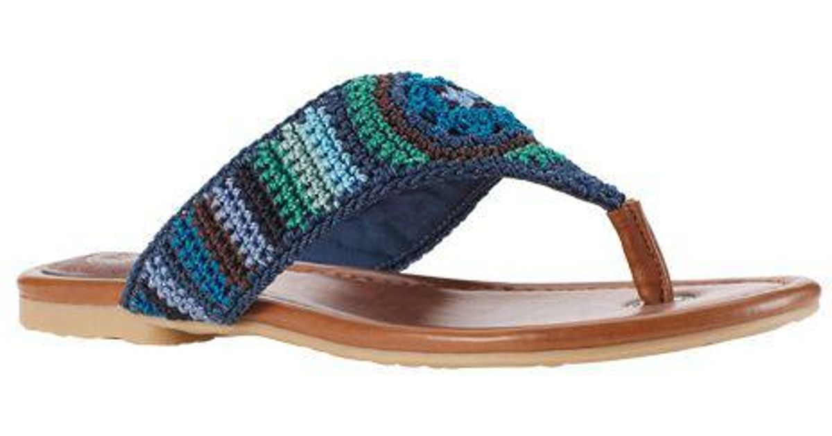 e6bea25ca6e7 Lyst - The Sak Women s Shana Crochet Thong in Blue