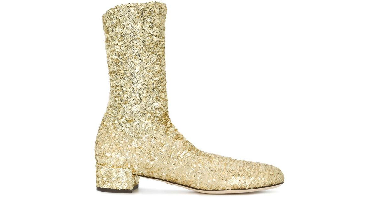 Comprar Barato Entrega Rápida Dolce & Gabbana sparkly stretch ankle boots - Metallic farfetch beige Recomendar Enchufe De Fábrica De La Venta En Línea Geniue Distribuidor En Línea Venta Libre Del Envío En Línea i05ukP
