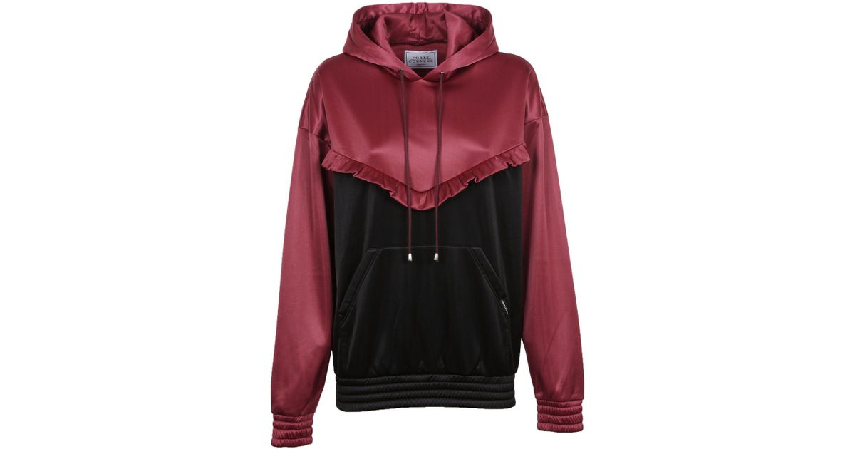 Lyst - Forte Couture Women s Black red Polyester Sweatshirt in Red c119f47027