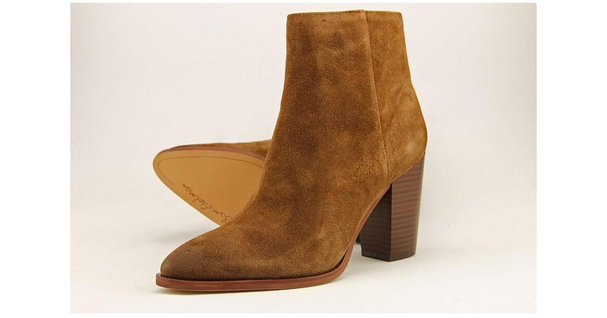 d69745f0c286 Lyst - Sam Edelman Blake Women Pointed Toe Suede Brown Ankle Boot in Brown