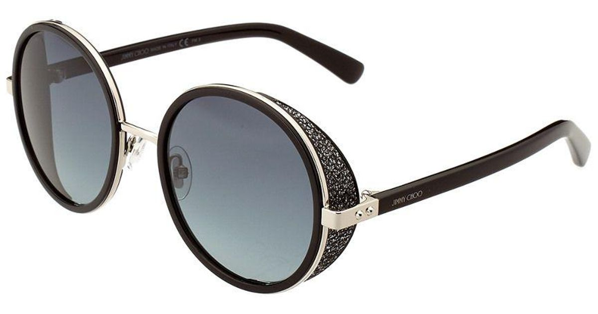 2748c563bb2 Lyst - Jimmy Choo Andie Crystal 54mm Sunglasses in Black