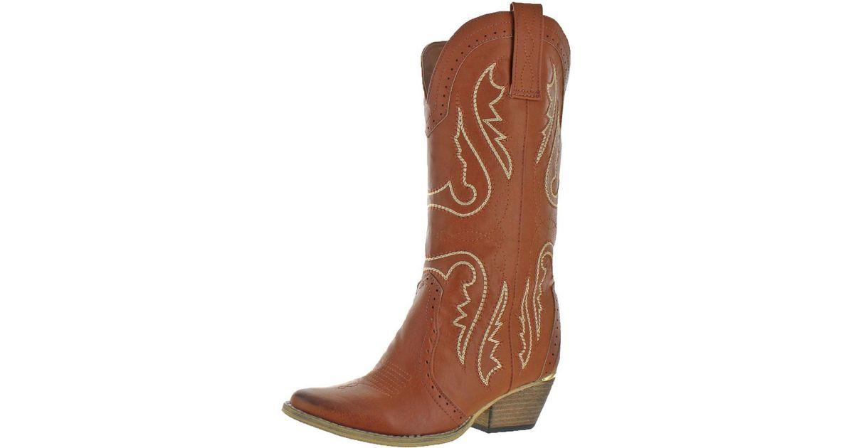 dac8631ccc9 Lyst - Very Volatile Womens Raspy Mid Calf Pull On Cowboy