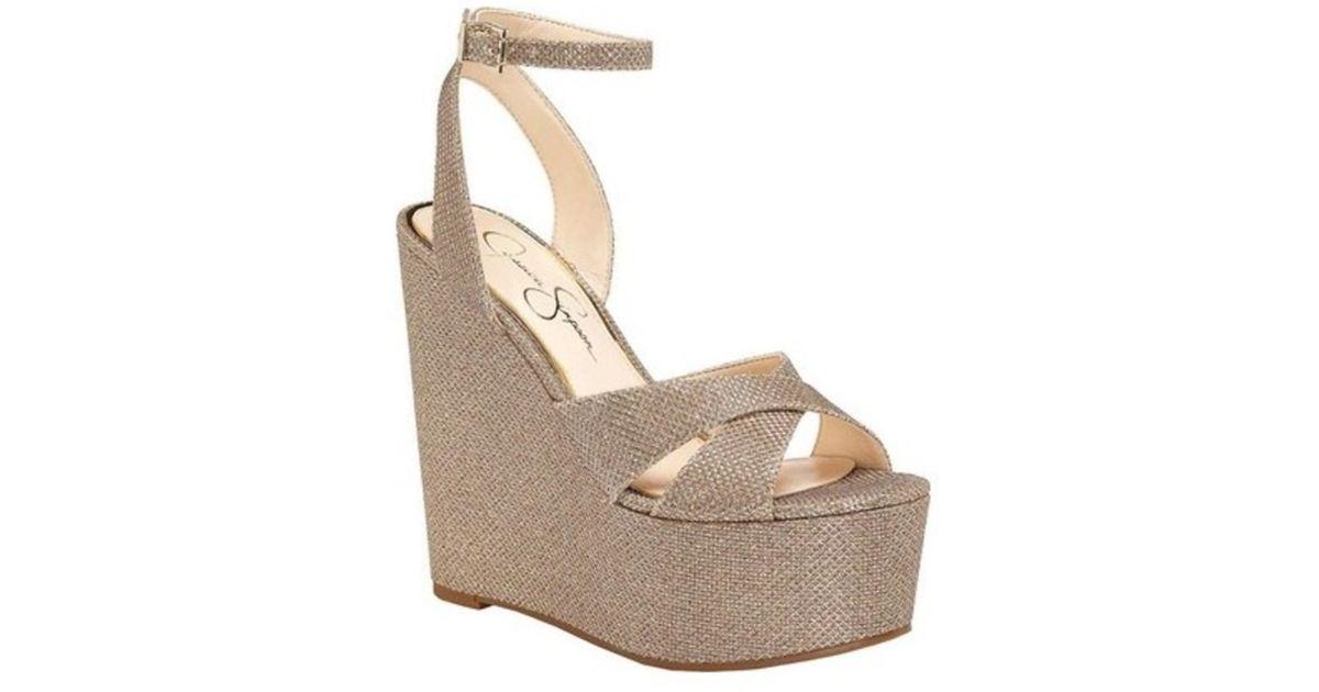 Jessica Simpson Prena Platform Wedge Sandal (Women's) RESmrKGmX