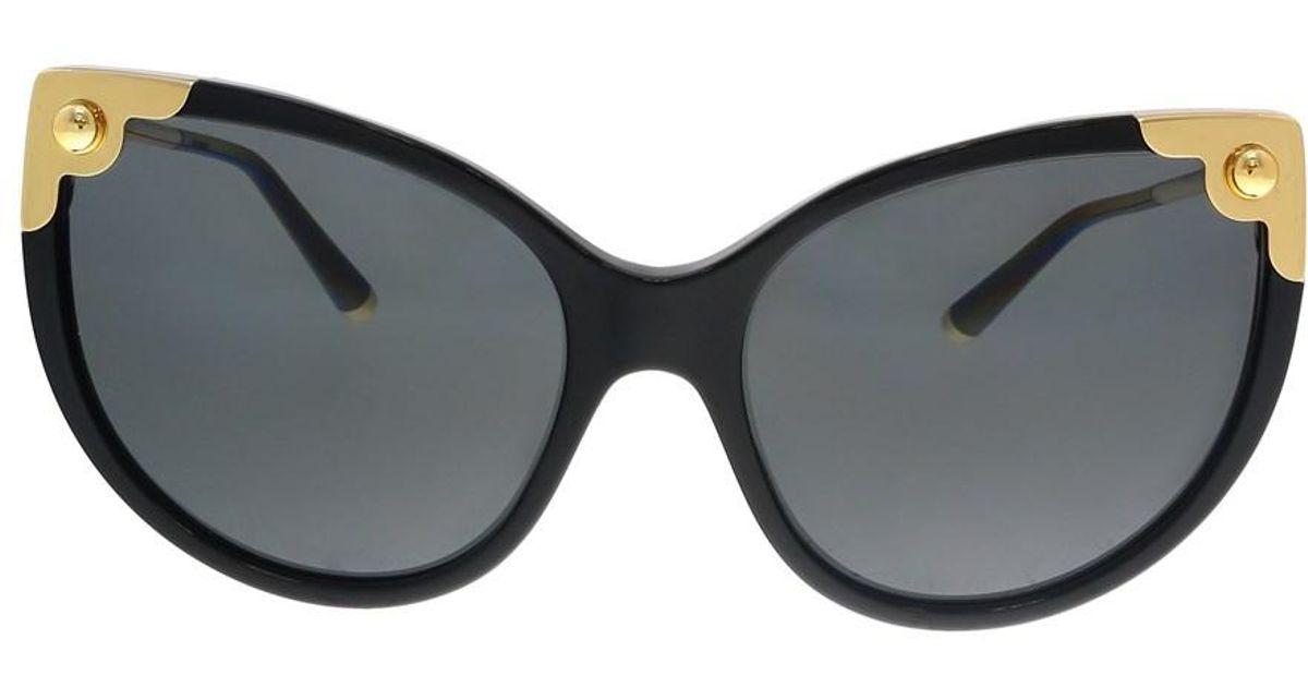 Lyst - Dolce   Gabbana Dg4337 501 87 Black Cateye Sunglasses in Black a8ac417c46ba