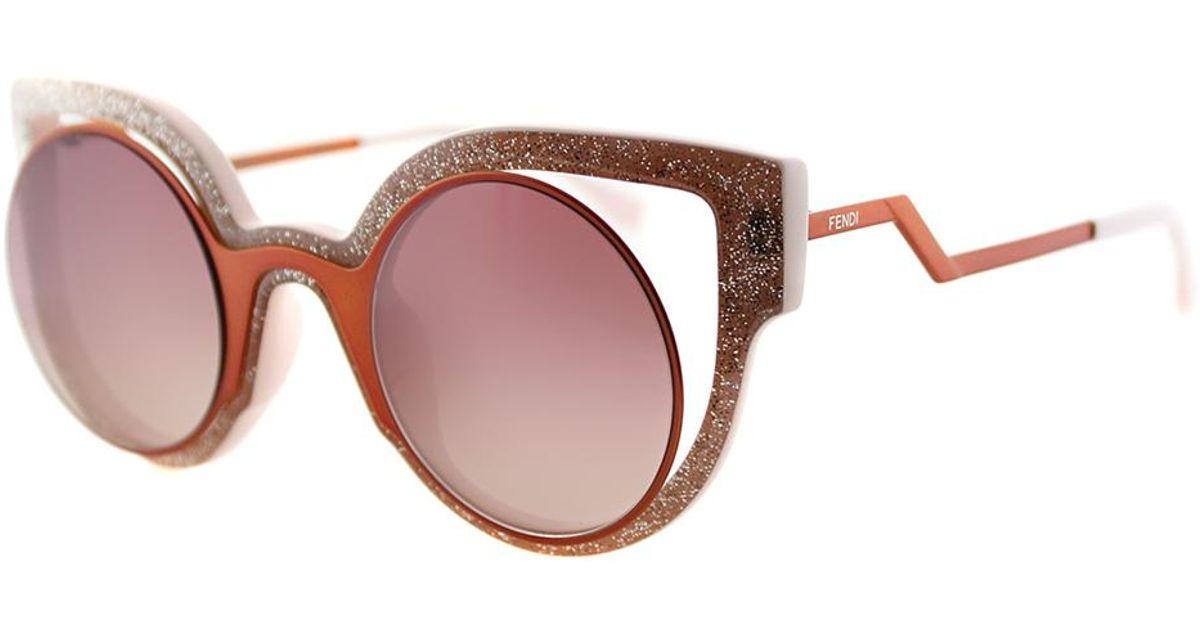 4eee63245562 Lyst - Fendi Paradeyes Cat-eye Plastic Sunglasses in Pink