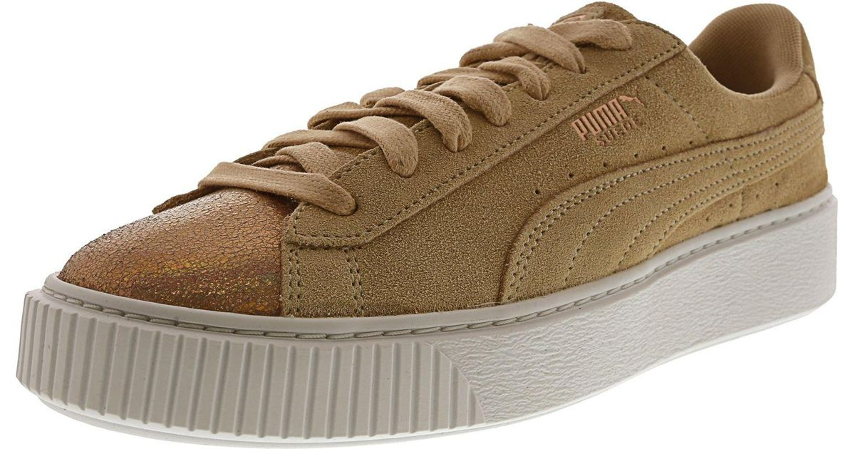 5ec5f830c54 Lyst - Puma Women s Suede Platform Lunalux Ankle-high Fashion Sneaker in  Natural