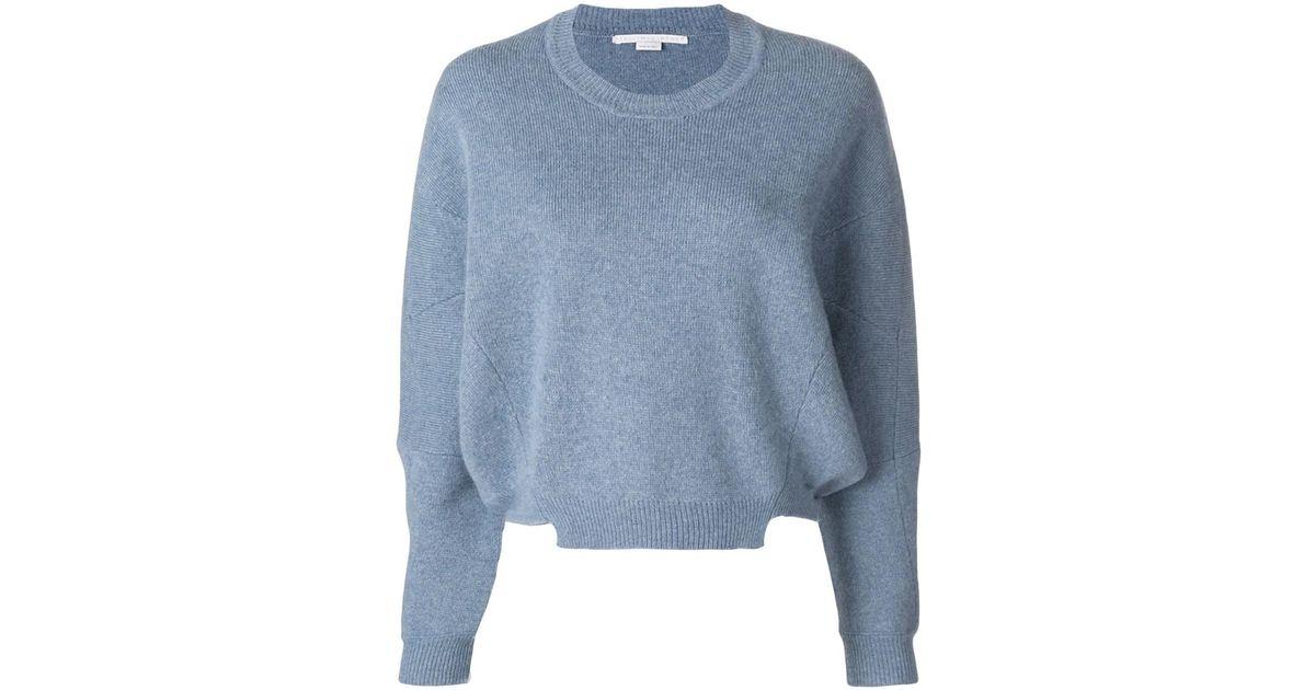 Lyst - Stella Mccartney Women s Light Blue Wool Sweater in Blue e338ca9e4f