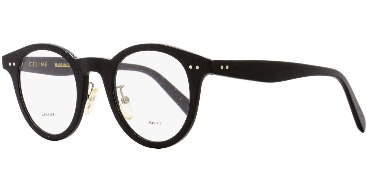 e5a9d5a5c0 Lyst - Céline Oval Eyeglasses Cl41463 807 Size  45mm Black 41463 in Black  for Men