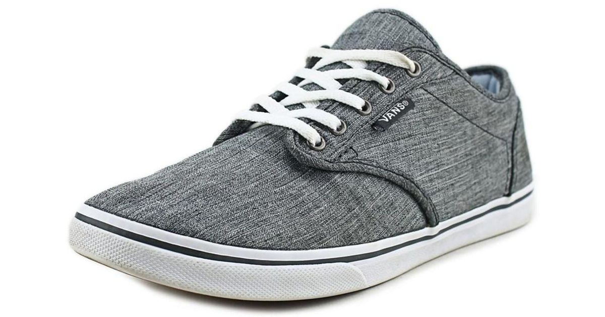 e963bf2045e2 Lyst - Vans Atwood Low Women Round Toe Canvas Gray Skate Shoe in Gray