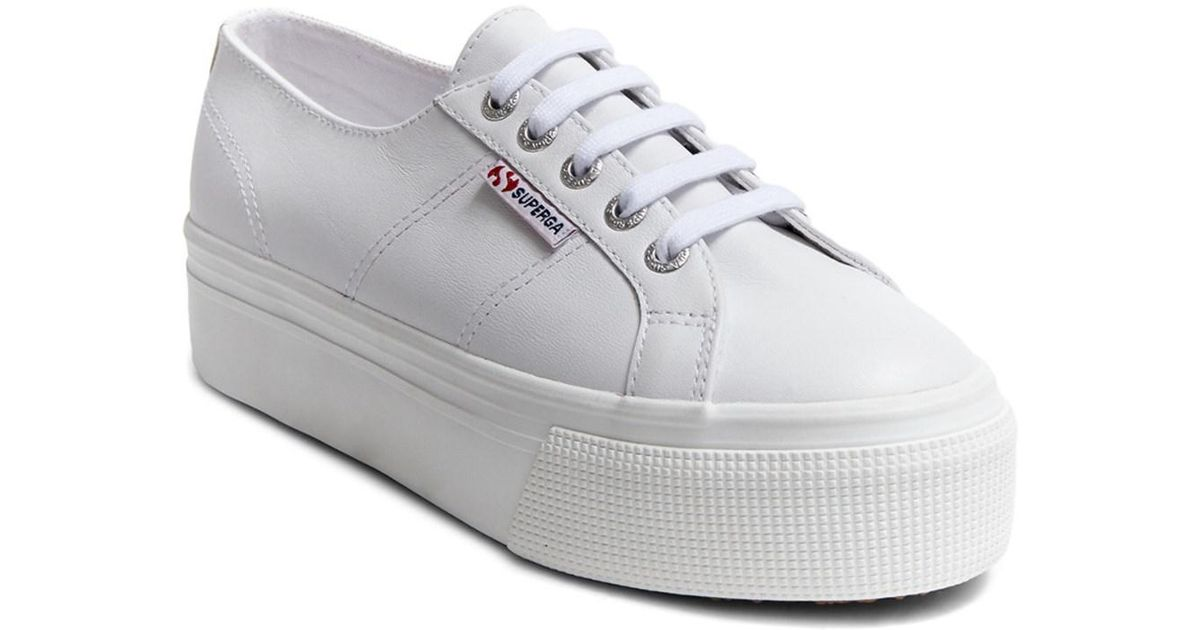 9e5671746c1b In Sneaker Platform 2790 White Superga Lyst Leather 8qwFUgcf