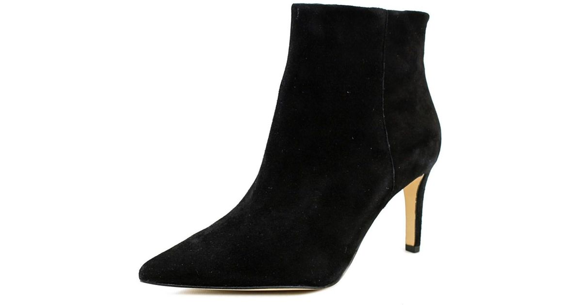 94383364f9a3ce Lyst - Sam Edelman Karen Pointed Toe Suede Ankle Boot in Black