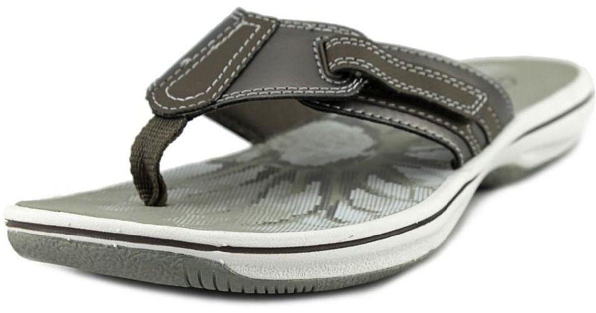 a205de1158ddfa Lyst - Clarks Brinkley Jojo Women Open Toe Canvas Bronze Flip Flop Sandal  in Metallic