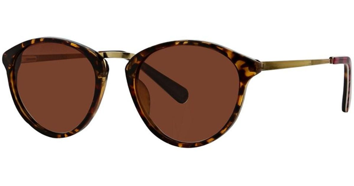 b304d0e002 Lyst - Vera Bradley Women s Avery 47mm Polarized Sunglasses in Brown