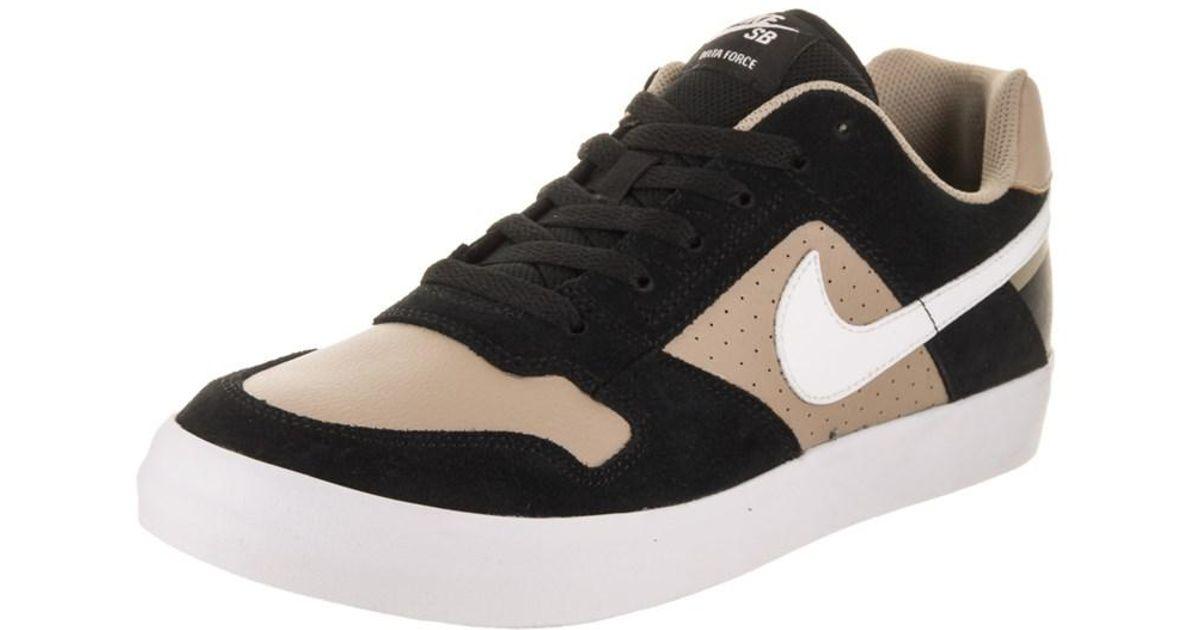 32c74782776 Lyst - Nike Men s Sb Delta Force Vulc Skate Shoe in Black for Men
