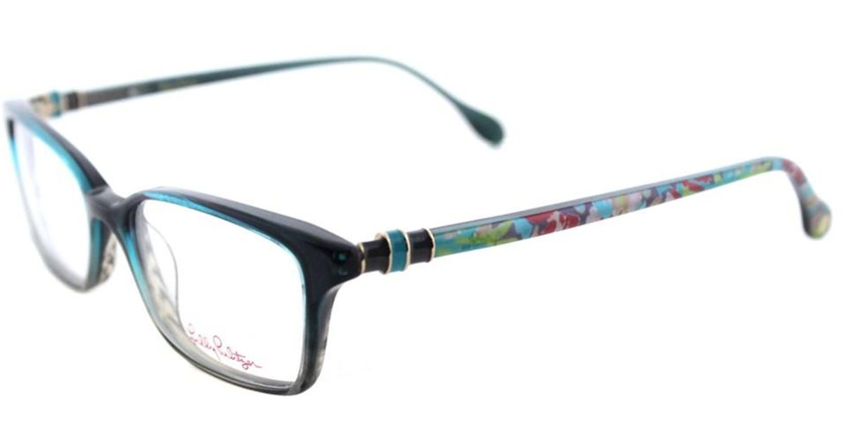 Lyst - Lilly Pulitzer Fulton Teal Fade Rectangle Eyeglasses