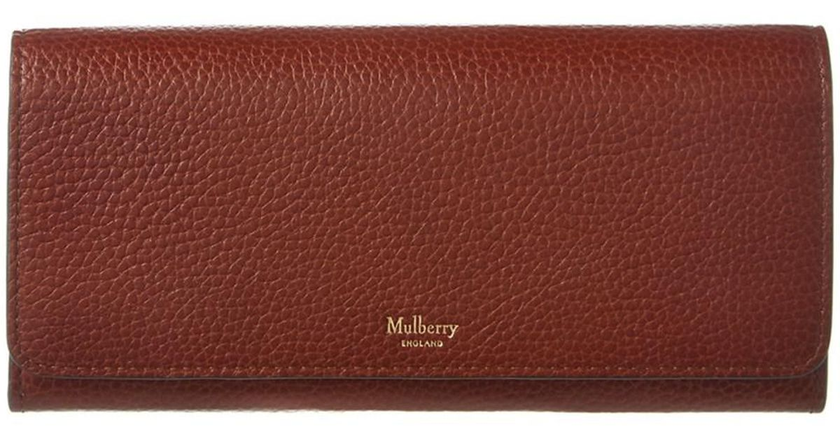 03d3497630 ... low cost lyst mulberry natural grain leather continental wallet in  brown 0f917 376d0