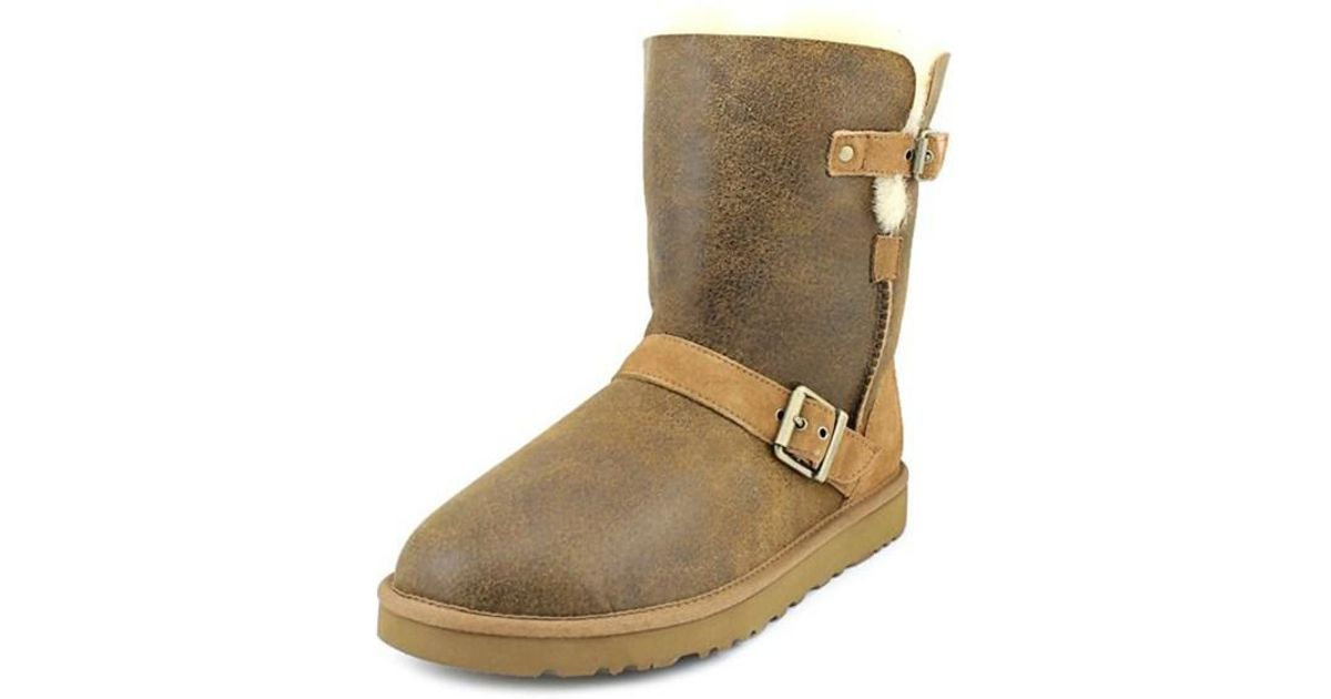 abb2d7ac263 Ugg - Dylyn Women Round Toe Suede Brown Winter Boot - Lyst