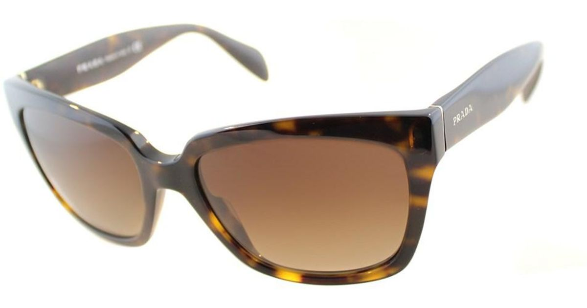 0dc3b747ffa Lyst - Prada Cat-eye Plastic Sunglasses in Brown