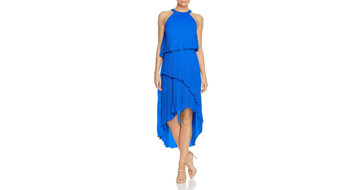 b0b5d0c9438e9 Lyst - Laundry By Shelli Segal Womens Pleated Hi-low Special Occasion Dress  in Blue