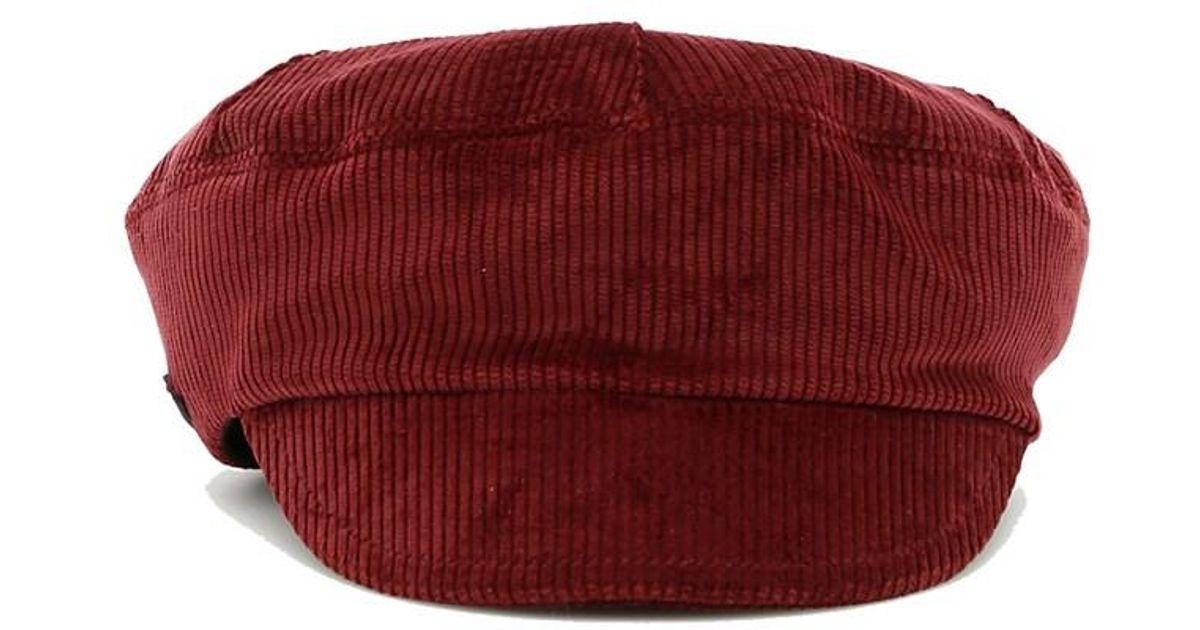 91b28df83cf Prada Women s Burgundy Cotton Hat in Red - Lyst