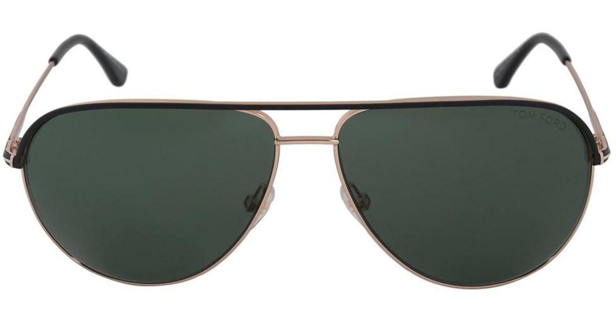 10c0536f9 Lyst - Tom Ford Erin Aviator Sunglasses Ft0466 05n 59 | Gold Frame | Green  Lenses in Metallic for Men