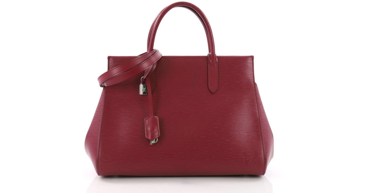 a62b3137c3ab Lyst - Louis Vuitton Pre Owned Marly Handbag Epi Leather Mm in Red