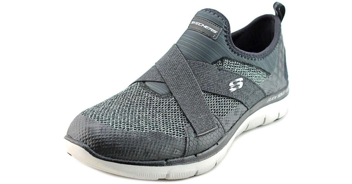 ebfd09746109 Lyst - Skechers Flex Appeal 2.0-new Image Women Round Toe Synthetic Black  Sneakers in Black