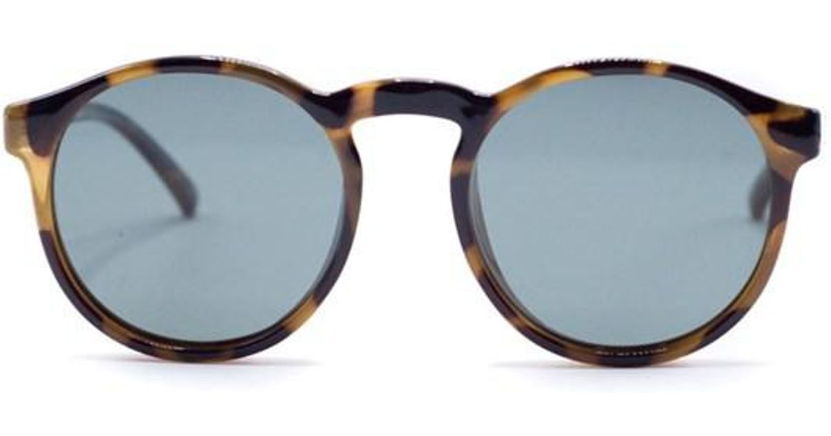 c41fa10311d Le Specs Unisex Cubanos Polarized Milky Tort Brown Round Sunglasses in  Brown - Lyst