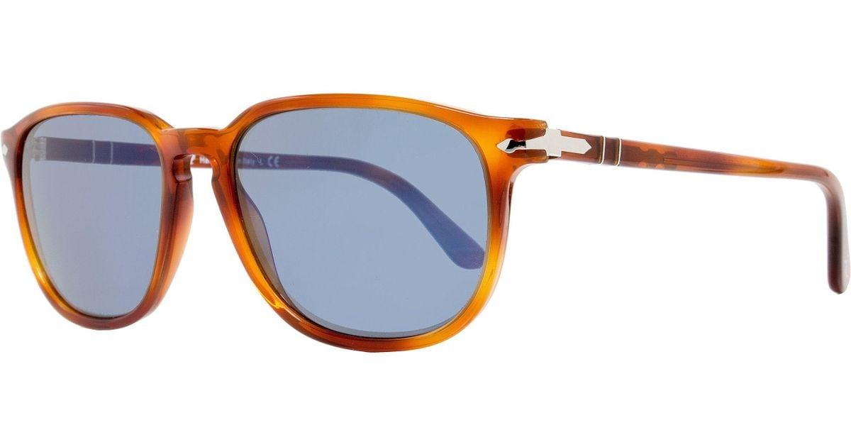 7b5c38b08b Lyst - Persol Oval Sunglasses Po3019s 96 56 Terra Di Siena 3019 in Blue for  Men