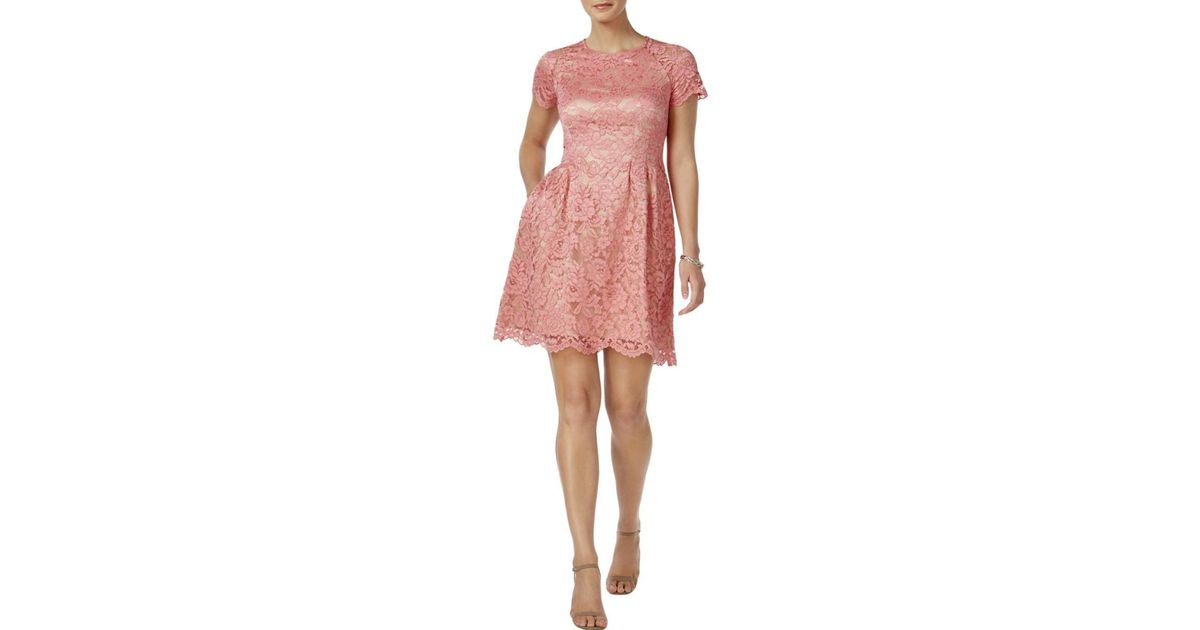 94f807446ef Lyst - Vince Camuto Womens Fringe Floral Party Dress in Pink