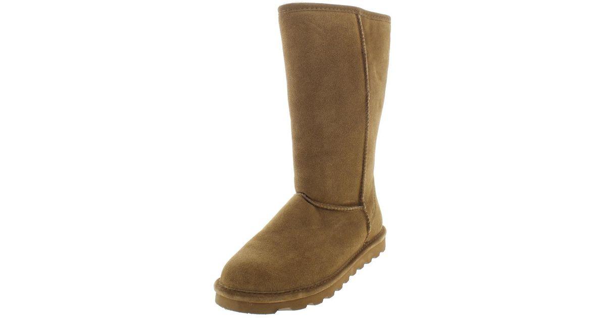 1b1b42fc25f9 Lyst - Bearpaw Womens Elle Tall Sheepskin Suede Winter Boots in Brown