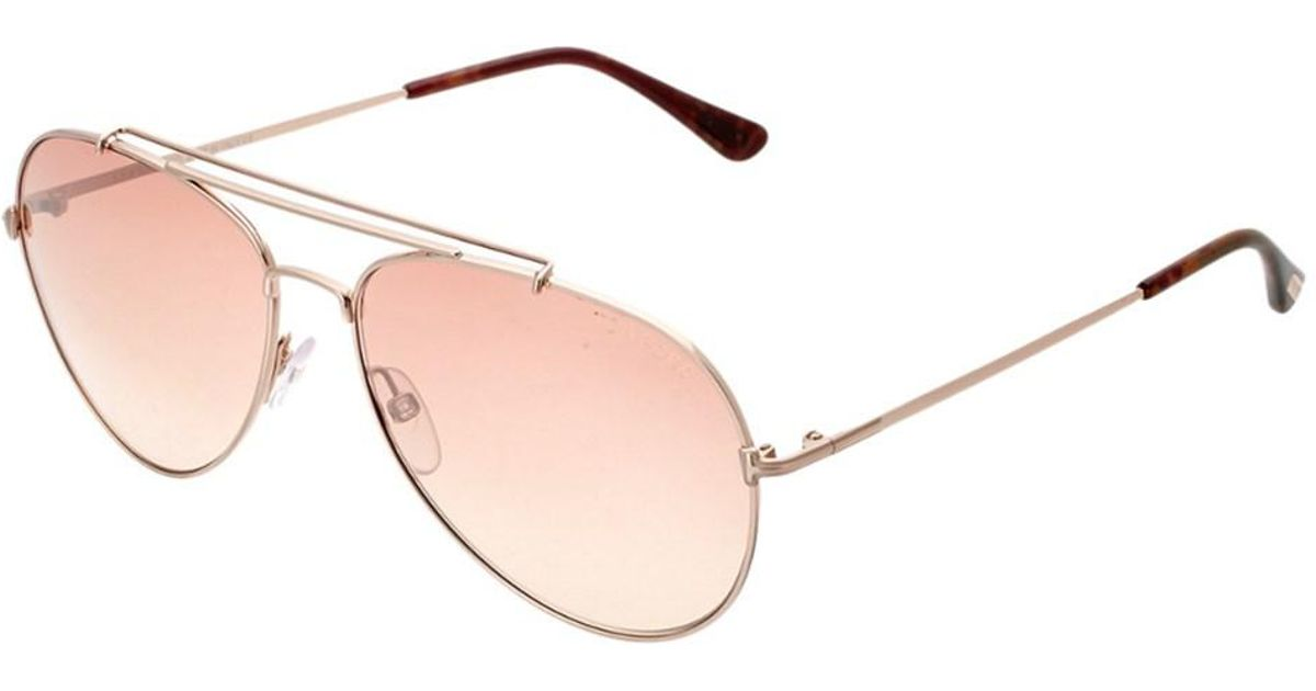 16adf4a0fbb Lyst - Tom Ford Women s Indiana 58mm Polarized Sunglasses in Pink