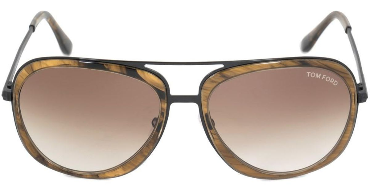 Lyst - Tom Ford Men\'s Sam Aviator Sunglasses Ft0469 41p 59   Yellow ...