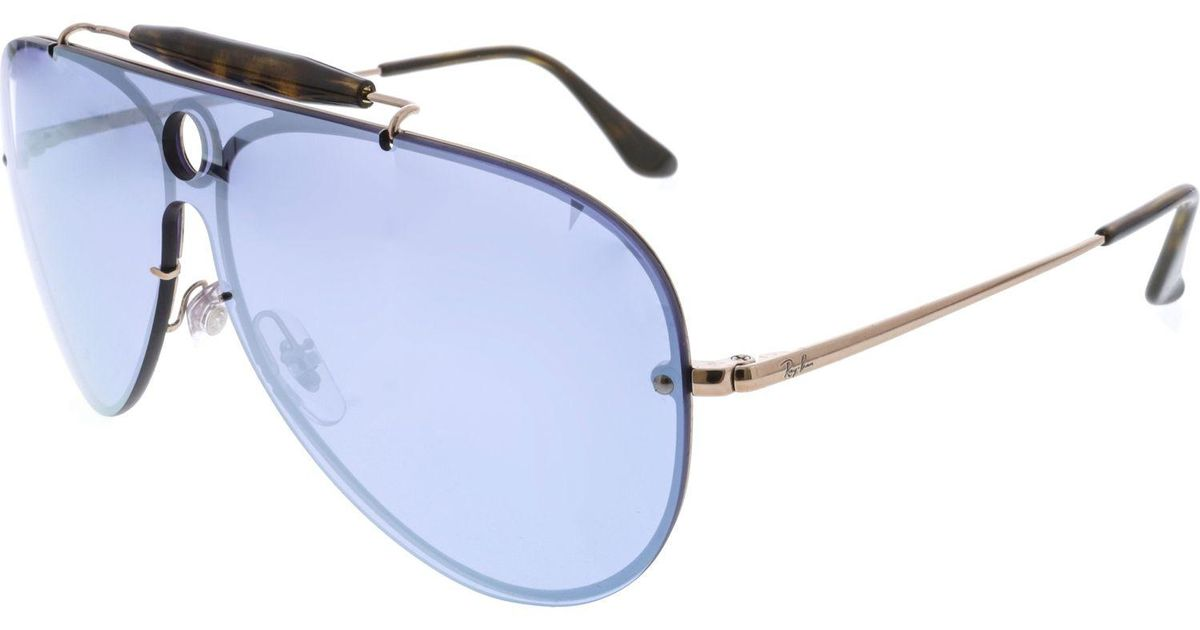 1c3fad44651 Lyst - Ray-Ban Men s Polarized Blaze Shooter Rb3581n-90351u-32 Brown  Aviator Sunglasses in Brown for Men