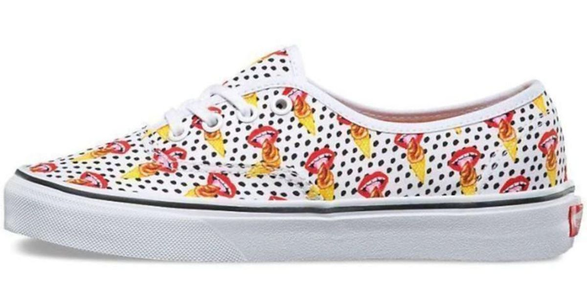 17329429ec81 Lyst - Vans Mens Authentic Kendra Dandy Low Top Lace Up Fashion Sneakers in  White for Men