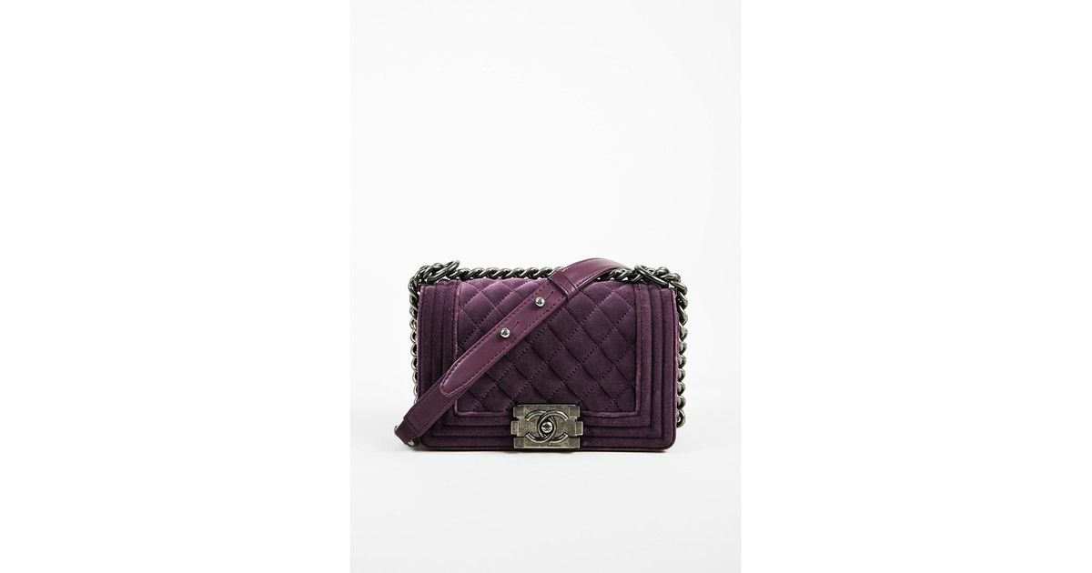 baf3682178c409 Chanel 1 2013-2014 Purple Velvet & Leather Small Quilted