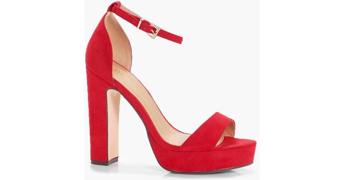wide fit platform heels