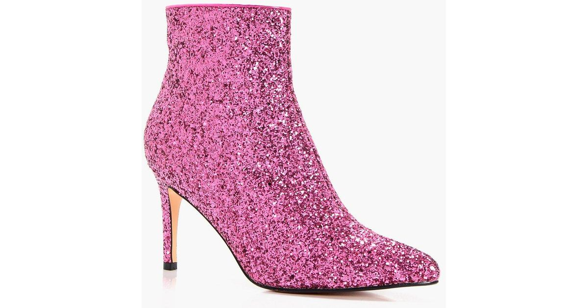 pink sparkle booties