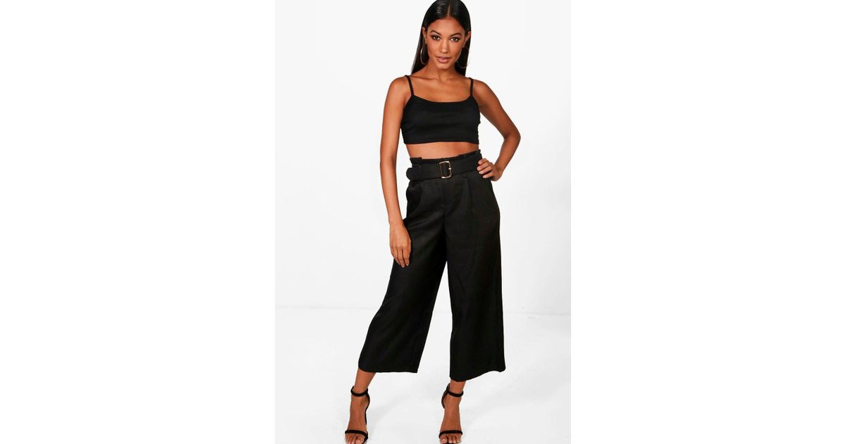 Boohoo High Waisted Belted Trouser Best Selling fs6MNG1
