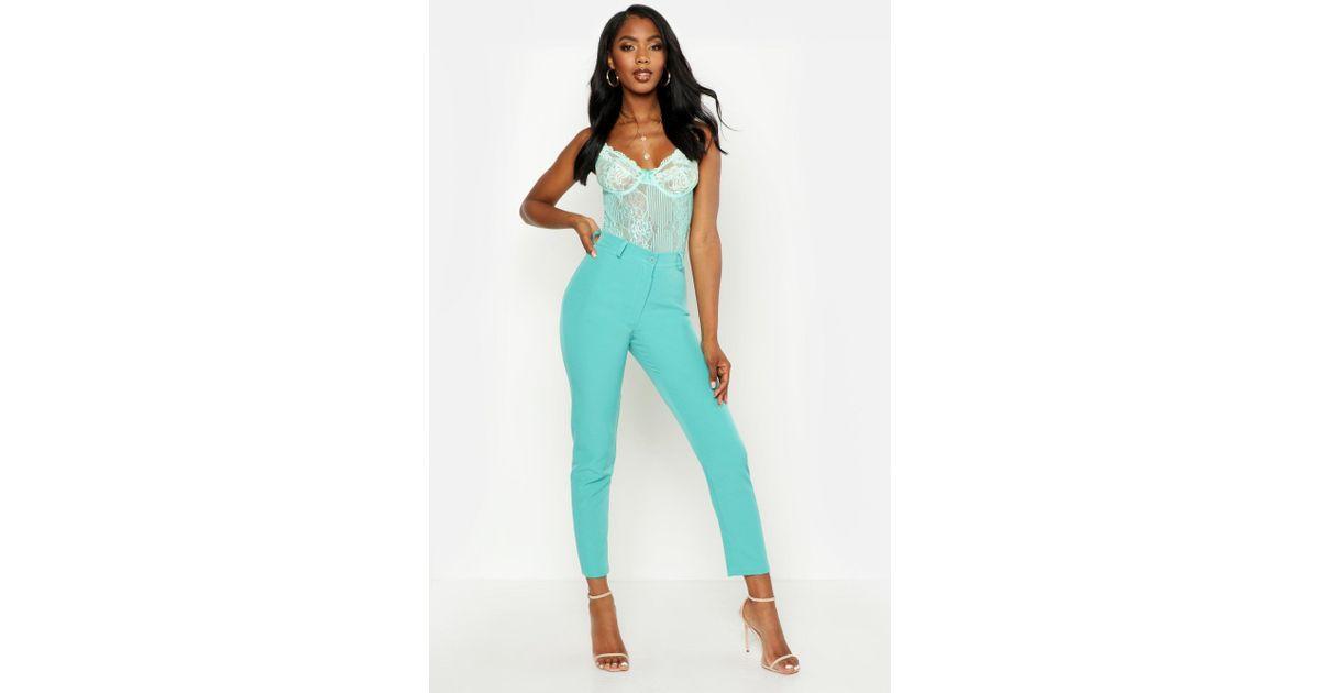 5b90fb20f906 Boohoo Tapered Pants in Blue - Lyst