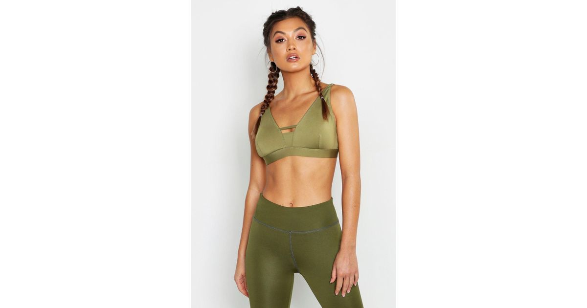 346c201b32 Lyst - Boohoo Fit Firm Support Sports Bra in Green