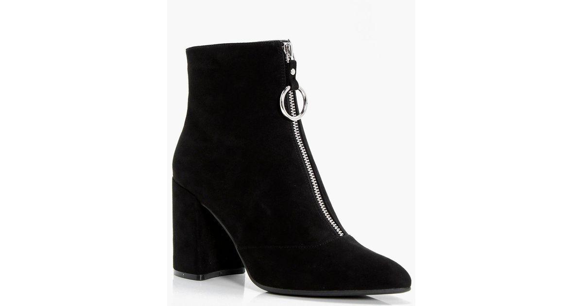 Boohoo Womens Oversize-Stiefel mit zylinderförmigem Absatz ...