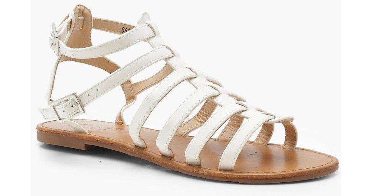 Sandals Gladiator Boohoo Boohoo Sandals White White Lyst Gladiator Lyst b6gfmIY7yv